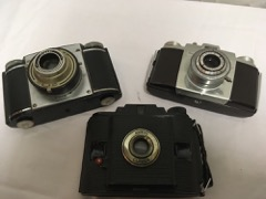 LOT 3 cameras  ansco  praxar  kodak