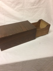 One_drawer_index_box__solid_oak__nice_finish_and_handle
