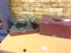 OLD husqvarna sewing machine in case