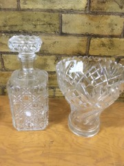 LOT,_glass_and_crystal,_bowls_decanter_vases