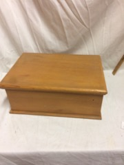 pine wood box, for jewelry, trinkets, etc.
