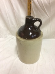 salt glazed pottery crock pitcher
