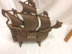cast iron sailing ship, was old lamp?