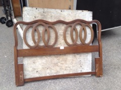 double bed headboard frame