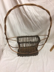 very old floral basket