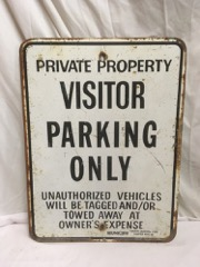 Visitor_parking_only_SIGN,_heavy_metal.