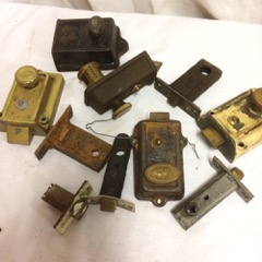 LOT, old door locks, old hardware