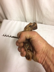 old_corkscrew,_burled_wood_handle,_brass_screw