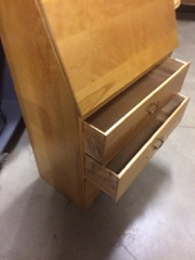Maple_drop_front_secretary_desk,_modern
