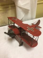 cool_red_baron_model_made_of_metal,_display