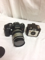 LOT,_two_cameras_Chinon_and_small_baby_kodak