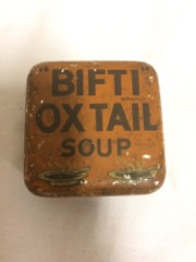 Bifti Oxtail soup tin, very early (before OXO)
