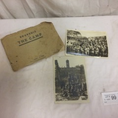 WW 1 photos and Souvenir boolet.