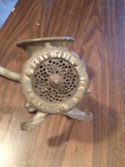 Antique_meat_chopper,_patented_late_1800s