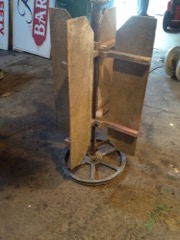 funky old farm machinery piece, tabletop?