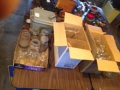 3 boxes of sealer jars, ball, crown, mason, more.