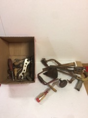 LOT, box of old tools, various