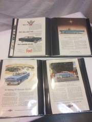 Two_folders_of_early_magazine_CAR_ADS,_about_50_