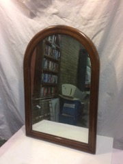 Arched_top_walnut_mirror,_vintage._19_x_29