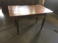 pine table, on shabby legs, see picts