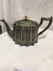 lovely old silverplate teapot. great look