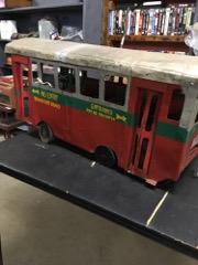 handmade british bus, 34 inches