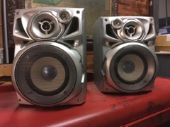 two pioneer speakers nice condition