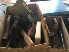 LOT old tools in box