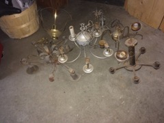 LOT, old lighting parts great crafters