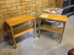 pair of side tables ready to refinish one price for both