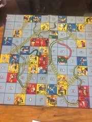 vintage snakes & ladders good bad behaviours