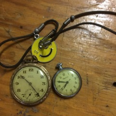 pocket watches, not working, for parts or repai
