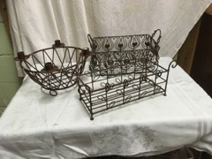 wire baskets home decor