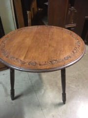 oak table dining U cut down to coffee table great look