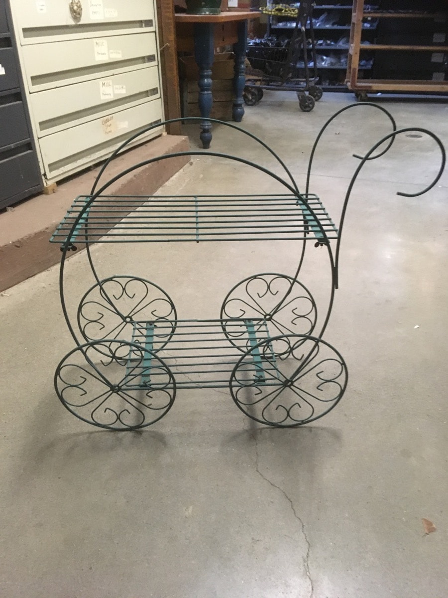 wire buggy cart  plant stand