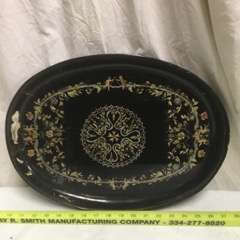 antique serving tray intricate design