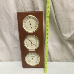 barometer hygrometer in wood frame