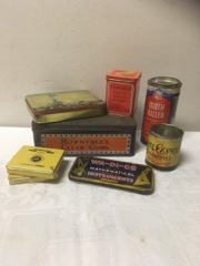 LOT tins various