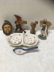 various figures and china LOT