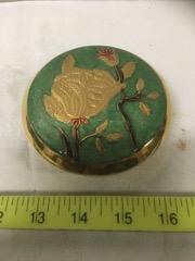 brass enamelled round case