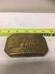 Dutch brass snuff box windmill